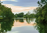Indiana Landscapes Art - Thousand Trails HorseShoe Lake by Nadine and Bob Johnston