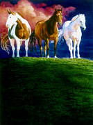 Horses Art Print Prints - Three Amigos Print by Hanne Lore Koehler