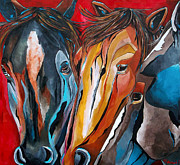 Three Amigos Print by Patti Schermerhorn