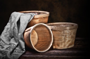 Bushel Photos - Three Basket Stil Life by Tom Mc Nemar