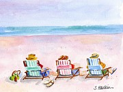 Original Watercolor Paintings - Three Beach Amigos by Sheryl Heatherly Hawkins