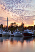 New England Coast Line Prints - Three Boats Print by Eric Gendron