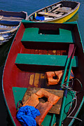 Dingy Prints - Three Boats Print by Garry Gay