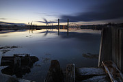 Maine Shore Prints - Three Bridges Print by Eric Gendron