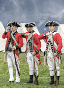 Great Britain Digital Art - Three British Soldiers Revolutionary War by Randy Steele