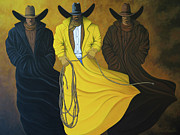 Cowgirls Paintings - Three Brothers by Lance Headlee