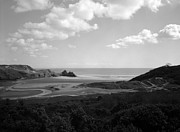 Meander Prints - Three Cliffs Bay Print by Paul Cowan