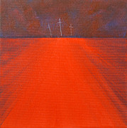 Bright Prints Painting Originals - Three Crosses Number Three by Christine Campbell