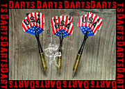 Throw Posters - Three darts Poster by Tommy Hammarsten