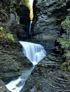 Finger Lakes Photos - Three Falls in Watkins Glen by Joshua House