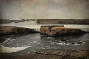 Tidal Prints - Three Fishermen Print by Laurie Search