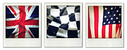 Abstract Design Prints - Three flags Print by Les Cunliffe