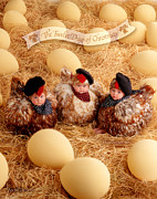 Photo Art - Three French Hens by Anne Geddes