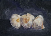 Garlic Originals - Three Garlic I by Joan Young