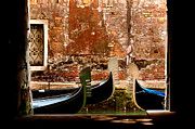 Wall City Prints Posters - Three Gondolas Venice Italy Poster by Xavier Cardell