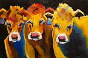 Diane Whitehead - Three Goofy cows