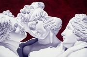 Neo-classical Metal Prints - Three Graces Metal Print by Catherine Abel