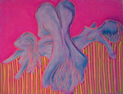 Nudes Pastels Acrylic Prints - Three Graces Acrylic Print by Gerald Swift