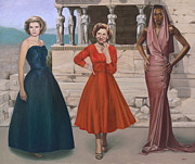 Greece Painting Originals - Three Graces by Terry Guyer