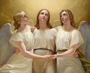 Famous Artists - Three guardian angels by Franz Kadlik