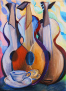 Frederick Luff Prints - Three Guitars Print by Luff  Gallery