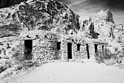 Civilian Prints - Three Historic Stone Cabins Built By The Civilian Conservation Corps In The 1930s Valley Of Fire Sta Print by Joe Fox