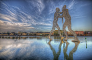 European City Digital Art - Three holey men by Nathan Wright