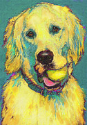 Retriever Digital Art Prints - Three hundred fiftyfourth retrieve Print by Jane Schnetlage