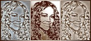Songwriter Mixed Media Acrylic Prints - Three Interpretations of Mariah Carey Acrylic Print by J McCombie