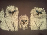 Fuzzy Pastels - Three Little Kittens by Neil Stuart Coffey