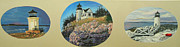 Janet Glatz - Three Maine Lighthouses