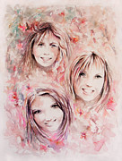 Blessings Paintings - Three Miracles by Rachel Christine Nowicki
