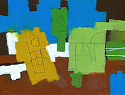 Abstract Paintings - Three Musicians by Douglas Simonson