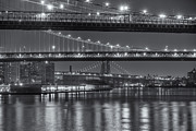 Long Street Prints - Three New York Bridges II Print by Clarence Holmes