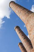 Patricia Hofmeester - Three old stone chimneys