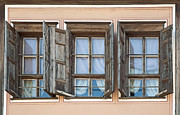 White Frame House Originals - Three old windows by Deyan Georgiev