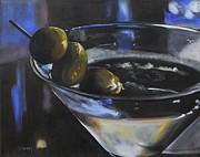 Three Olive Martini Print by Donna Tuten
