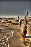 William Fields Metal Prints - Three on the Beach Metal Print by William Fields