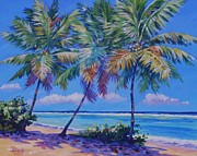 Trinidad Paintings - Three Palms - East End  1620 by John Clark