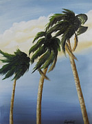 Randall Painting Originals - Three Palms by Randall Brewer