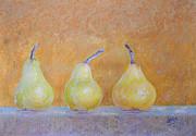 Three Pears Print by Adel Nemeth