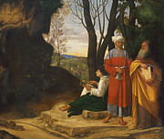Famous Artists - Three Philosophers by Giorgione