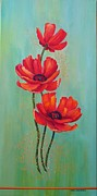 Carol Sabo - Three Red Poppies With...