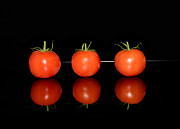 Food And Drink Originals - Three red tomatoes by Tommy Hammarsten