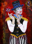 Ringmaster Framed Prints - Three Ring Circus Framed Print by Barbara Jean Lloyd