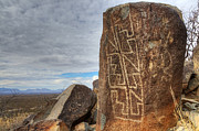 Three Rivers Petroglyphs 4 Print by Bob Christopher