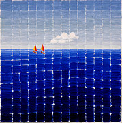 Jesse Jackson Brown - Three Sail Boats #2