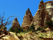 Kasha Katuwe Tent Rocks Prints - Three Sisters Print by Barbara Dolny-Bombar