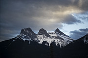 Alberta Rocky Mountains Posters - Three Sisters Poster by Evelina Kremsdorf