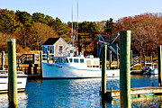 Harwich Prints - Three Sons Harwich Port Cape Cod Print by Michelle Wiarda